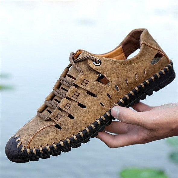 Summer Comfortable Casual Shoes Men Loafers Leather Moccasins Water Shoes