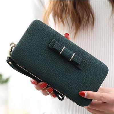 PU Leather Women Multifunction Wallet Purse Card Holders Mobile Phone Pocket