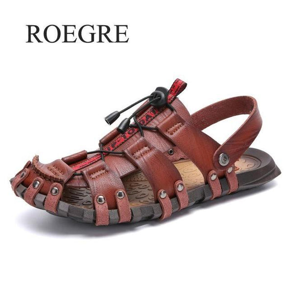 Men's Summer Sandals Genuine Leather Beach Shoes
