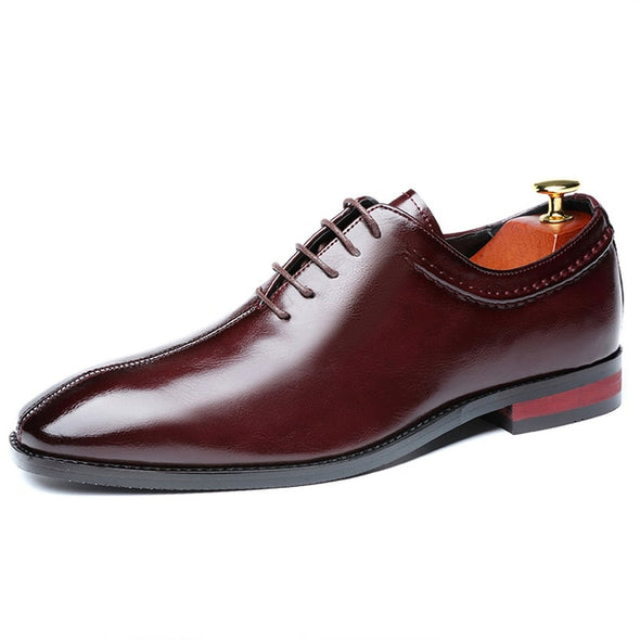 Men Lace-Up Office Business Casual Leather Shoes