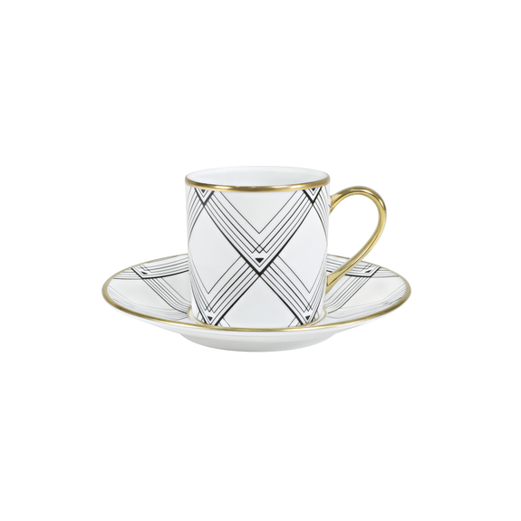 ART DECO EMPIRE COFFEE CUP & SAUCER