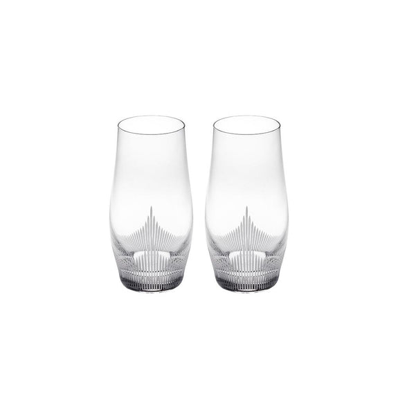 LALIQUE CRYSTAL LARGE TUMBLER - SET OF TWO
