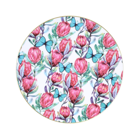 RED BANKSIA DINNER PLATE