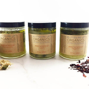 Organic Sea Salt Herbal Scrub Spa Pamper Treat