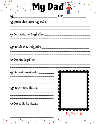 My Dad Father's Day Printable