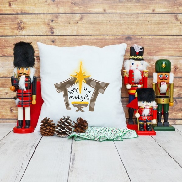 Home Decor Away in a Manger Pillow Cover - Treasure By Design