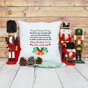 Home Decor Christmas Grandparent Pillowcase - Treasure By Design