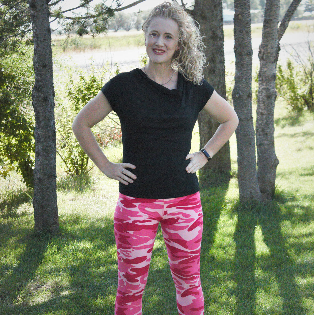 Fashion Pink Camouflage Print Legging - Women's - Treasure By Design