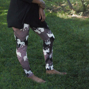 Running Stallion Print Legging - Women's - Treasure By Design