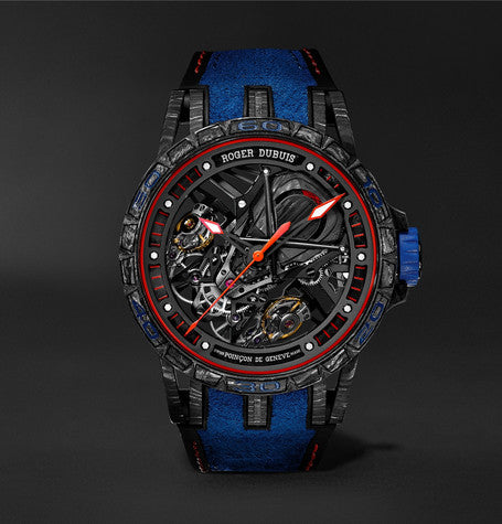 Excalibur Aventador S Limited Edition Skeleton 45mm Carbon, Rubber And Alcantara Watch, Ref. No. RDDBEX0686