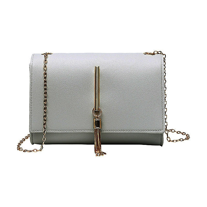 Longo Women's Chain Strap Leather Cross-Body Bag - Grey