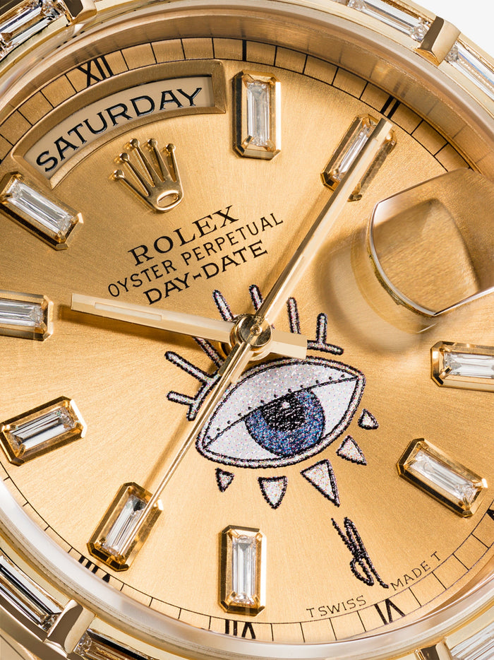 Jacquie Aiche 18K Yellow Gold Rolex 10 Eye Watch