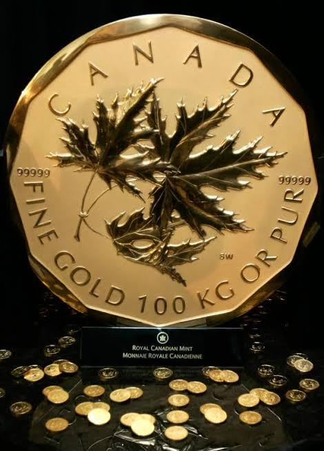 Flick Make Canadian Giant Gold Elizabeth Coin Semblance