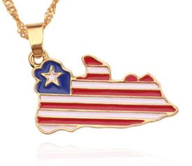 Map Flag Necklace Enamel Pendant Jewelry