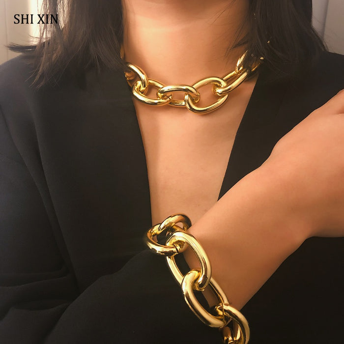 Thick Chain Choker Necklaces for Women