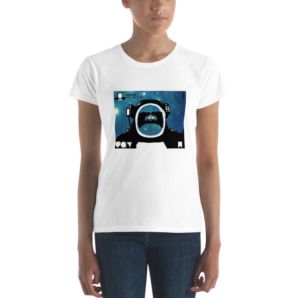 Astrobae selfie on Pluto Premium short sleeve t-shirt