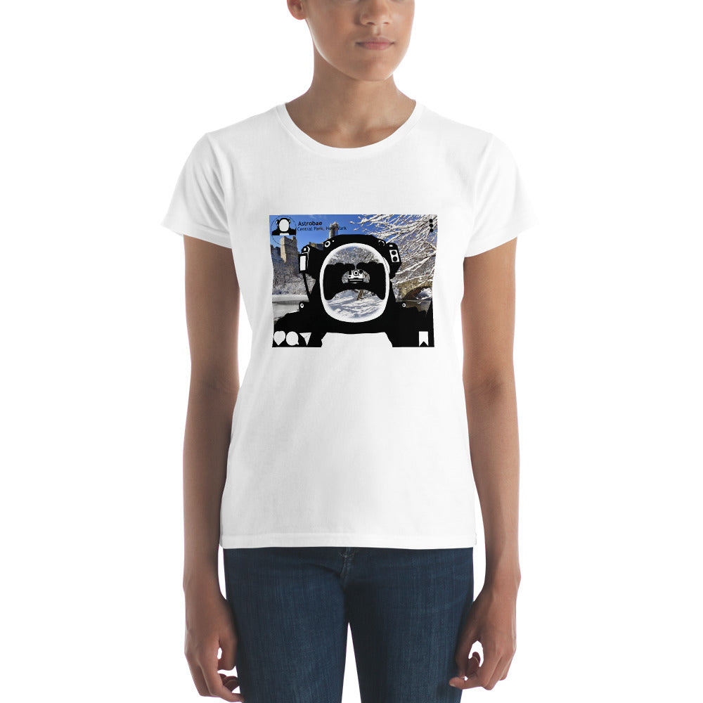 Astrobae New York Central Park selfie Premium short sleeve t-shirt