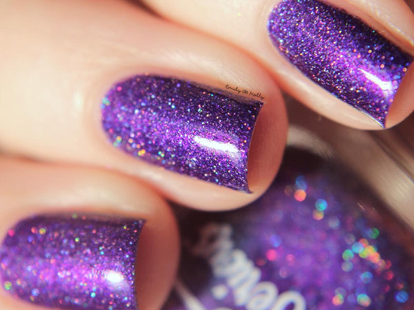 Carina Purple Vegan Holographic Nail Polish Australia