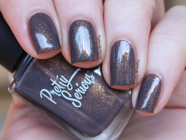 Throwing Copper Nail Polish - Pretty Serious Cosmetics
