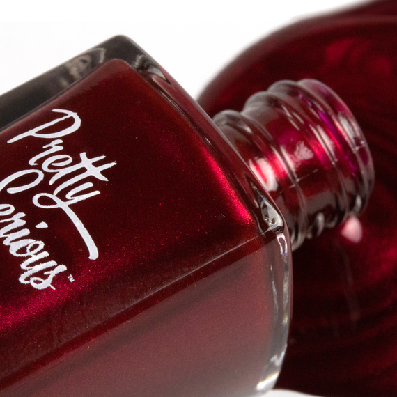Red Shimmer Nail Polish Pretty Serious Christmas – Pretty Serious ...
