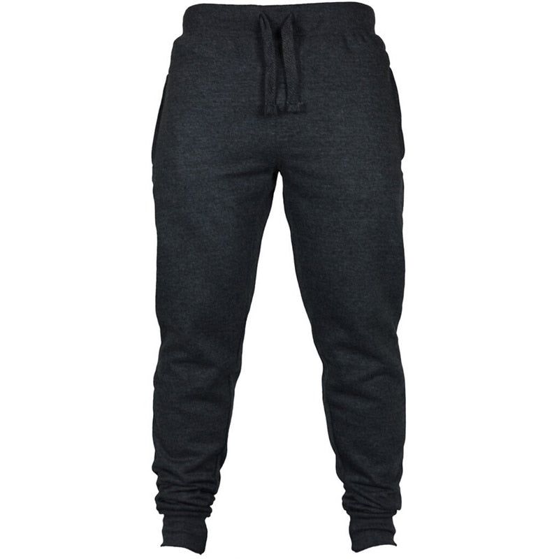 Brand New Men's Joggers Black Casual Sweatpants Male Trousers Elastic Waist Fitness Workout Pants Plus Size 2xl