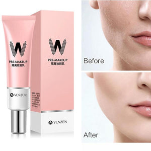 30ml VENZEN W Primer Make Up Shrink Pore Primer Base Smooth Face Brighten Makeup Skin Invisible Pores Concealer Korea