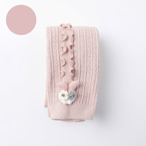 Baby Autumn Winter Tights Hot Baby Toddler Kid Girl Ribbed Stockings Cotton Warm Pantyhose Solid Candy Color Tight 0-5Y