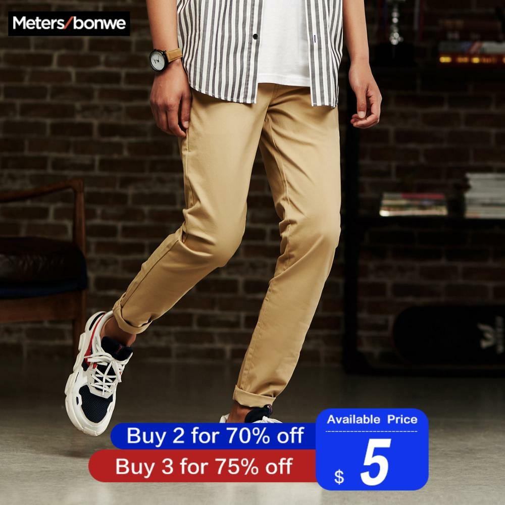 Metersbonwe Men Casual Pants New Autumn Casual Trousers Straight Chinos Fashion Smart Pants Male Brand Trousers High Quality