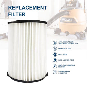 MT-Flow Ridgid VF4000 Filter 1-Layer for Dust Collection System, Shop-Vac Filter (1-P)