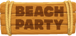 Beach Party Sign