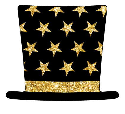 Black and Gold Top Hat