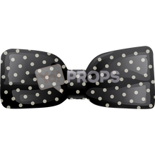 Load image into Gallery viewer, Black Polka Dot Bowtie