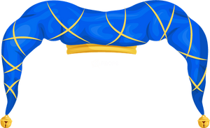 Blue & Gold Jester Hat