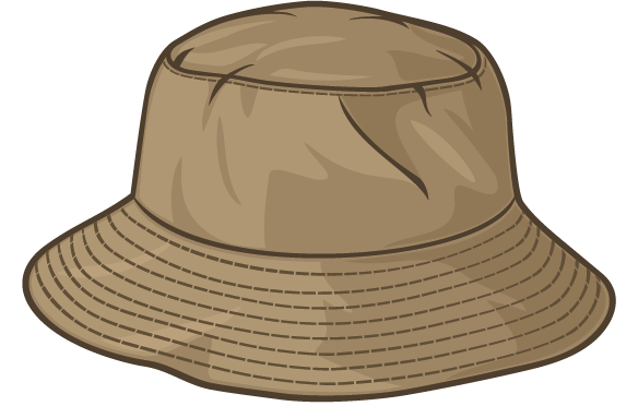 Brown Fishing Hat