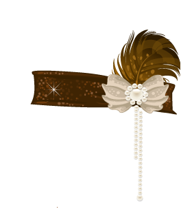 Brown Flapper Hat