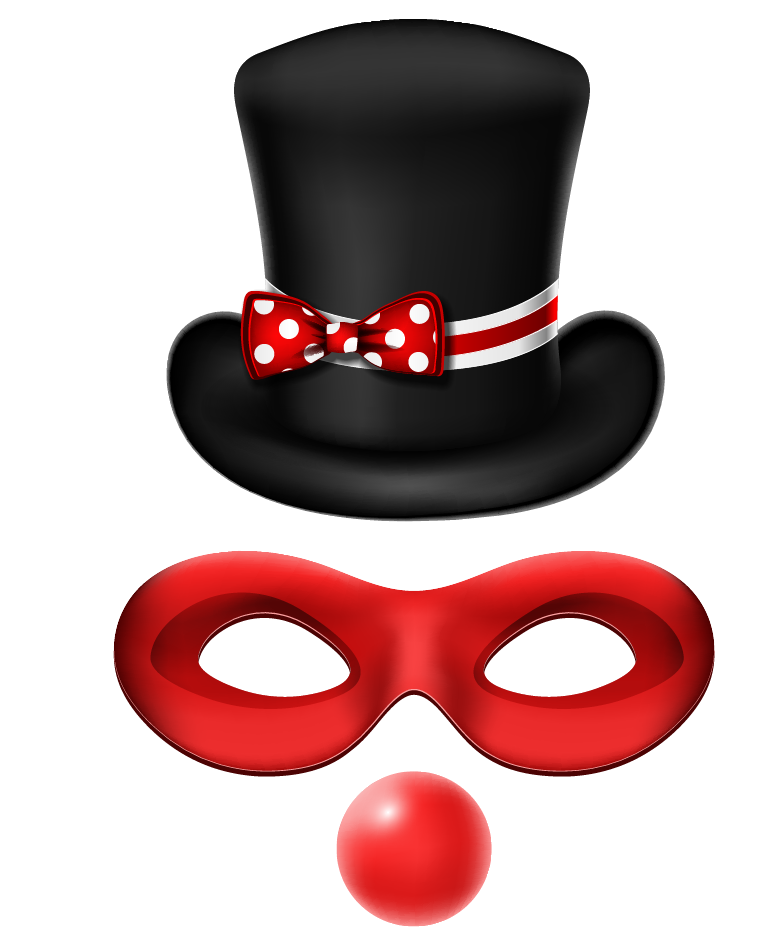 Clown Hat, Mask and Nose