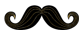 Black and Gold Mustache