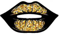 Black Gold Sparkly Lips 2