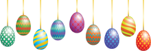 Load image into Gallery viewer, Hanging Easter Eggs Overlay