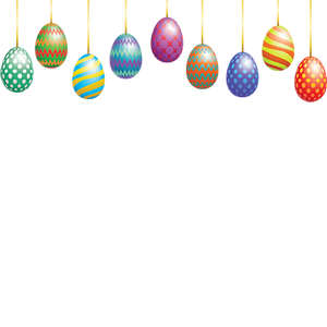 Hanging Easter Eggs Overlay