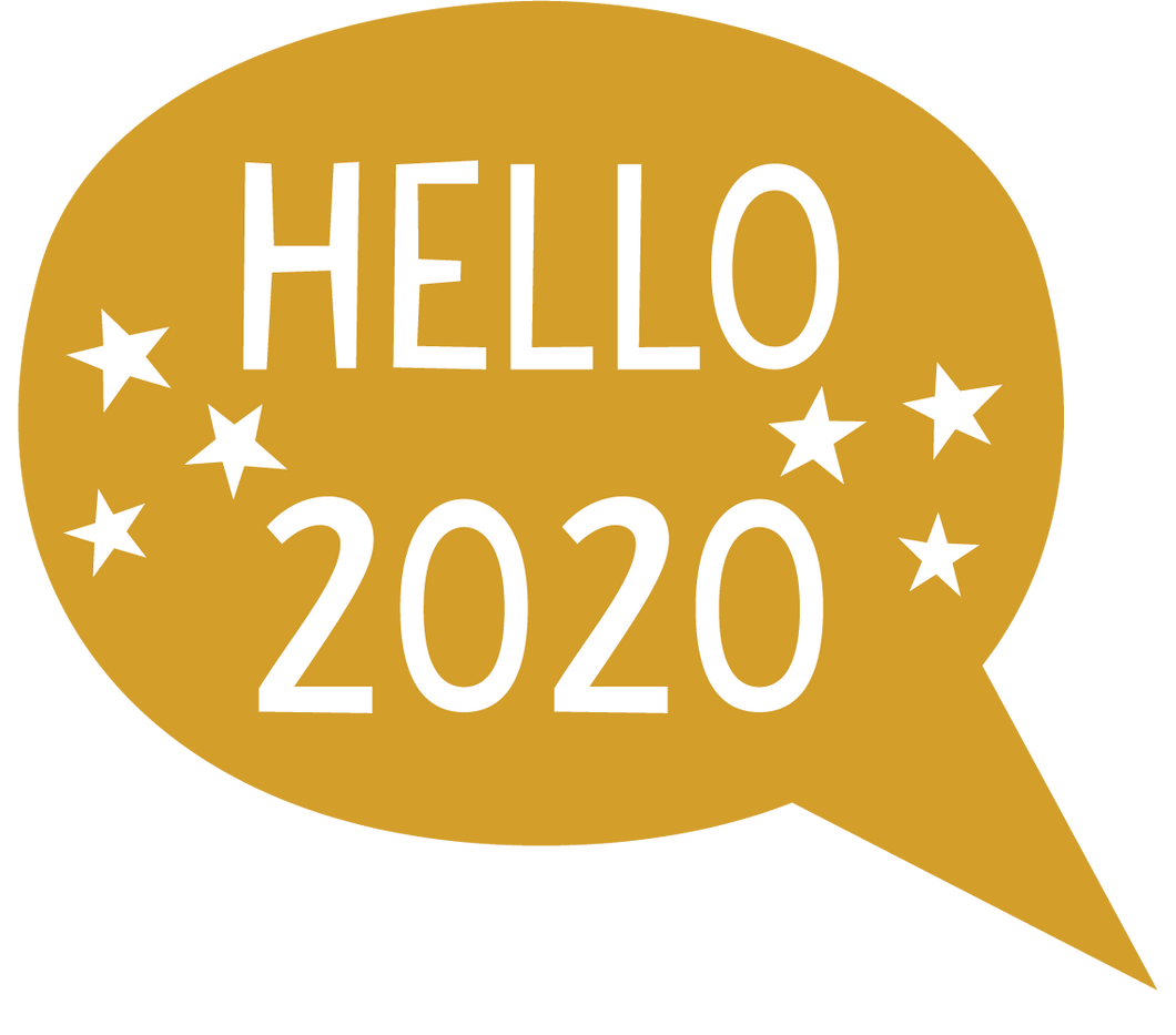 Hello 2020 Speech Bubble