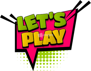 """Lets Play"" Comic Speech Bubble"