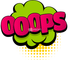 """Oops"" Comic Speech Bubble"
