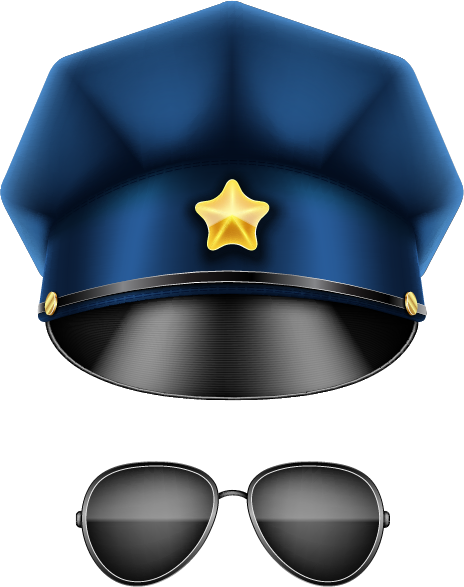 Police Hat and Glasses