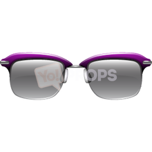 Load image into Gallery viewer, Purple Half Frame Glasses