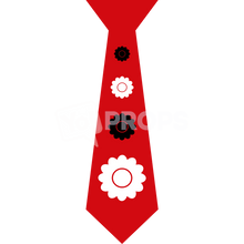 Load image into Gallery viewer, Red Flower Tie
