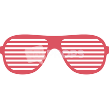 Load image into Gallery viewer, Red Slotted Glasses 1