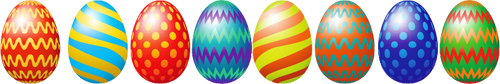 Row of Easter Eggs Overlay