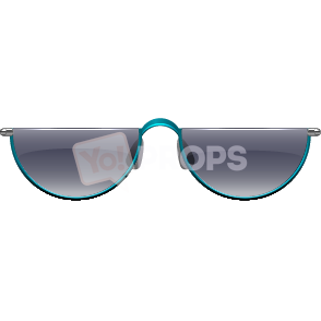 Teal Half Frame Glasses