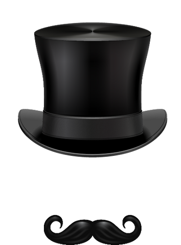 Top Hat and Mustache